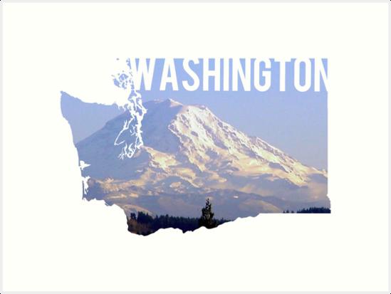 Washington - Rainier by Daogreer Earth Works