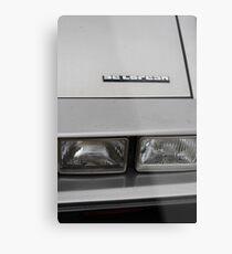 DeLorean Metal Print