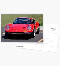 Ferrari Dino in Red Postcards