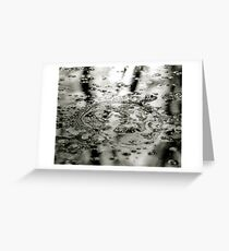 Abstract Ice Greeting Card