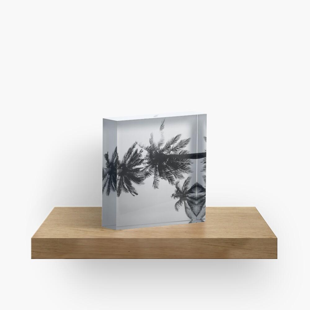 Palmtree black&white Acrylic Block