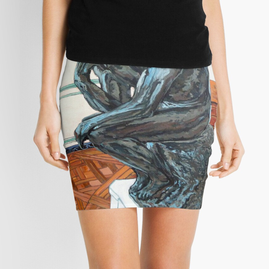 Le Penseur The Thinker Mini Skirt