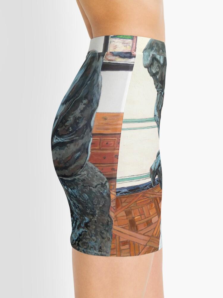 Alternate view of Le Penseur The Thinker Mini Skirt