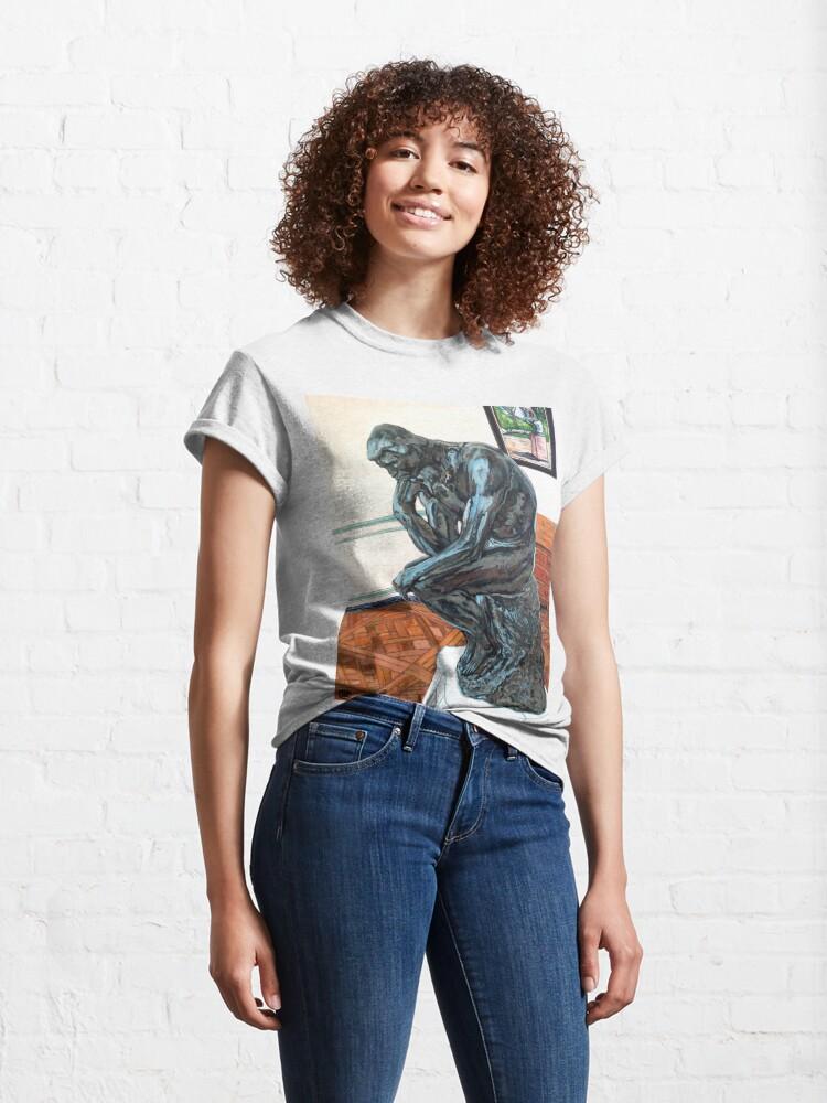 Alternate view of Le Penseur The Thinker Classic T-Shirt