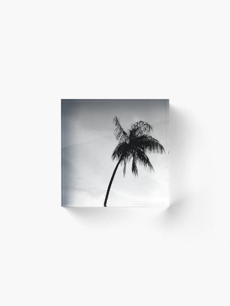 Alternate view of Palmtree black&white Acrylic Block