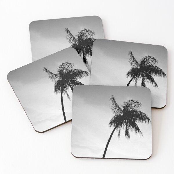 Palmtree black&white Coasters (Set of 4)