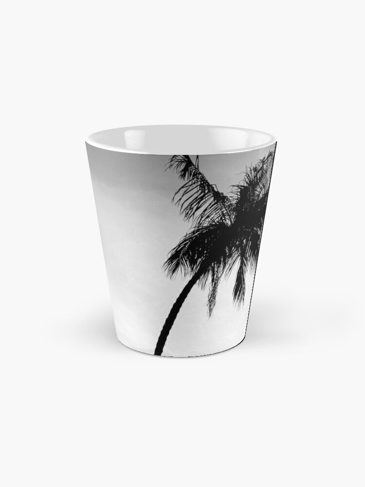 Alternate view of Palmtree black&white Mug