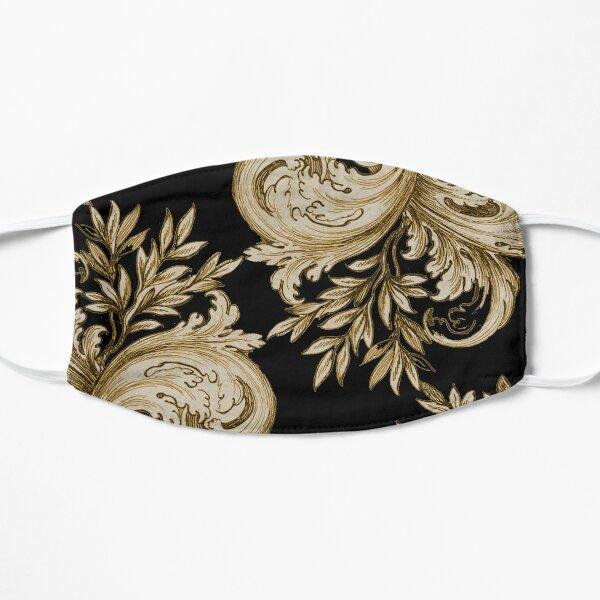 Gold on Black Swirl Small Mask