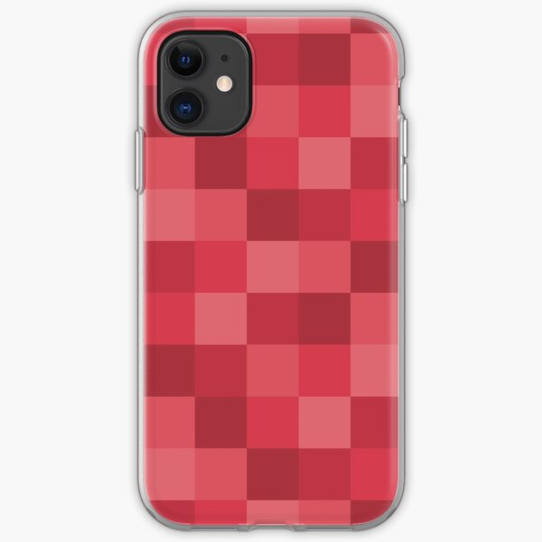 Checkered Coral iPhone Soft Case