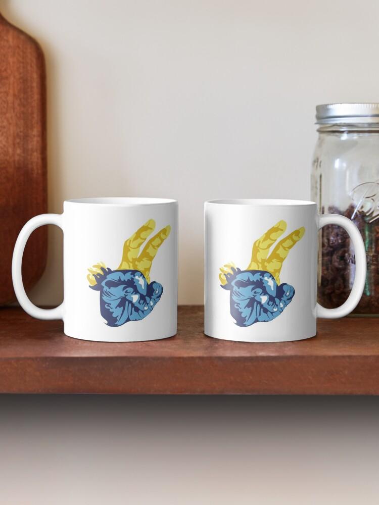 Alternate view of Nudibranch Hand Signal Mug