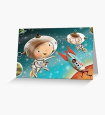 Nat in Space Greeting Card