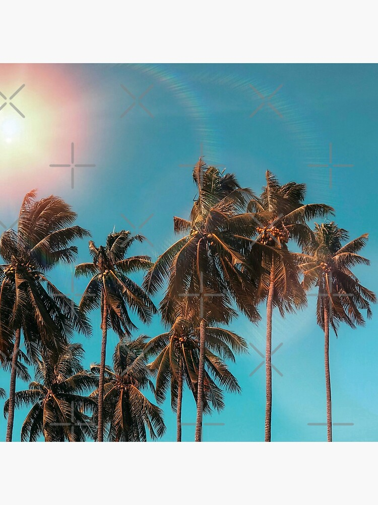Palmtrees aqua by ColorsHappiness