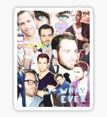chris pine collage Sticker