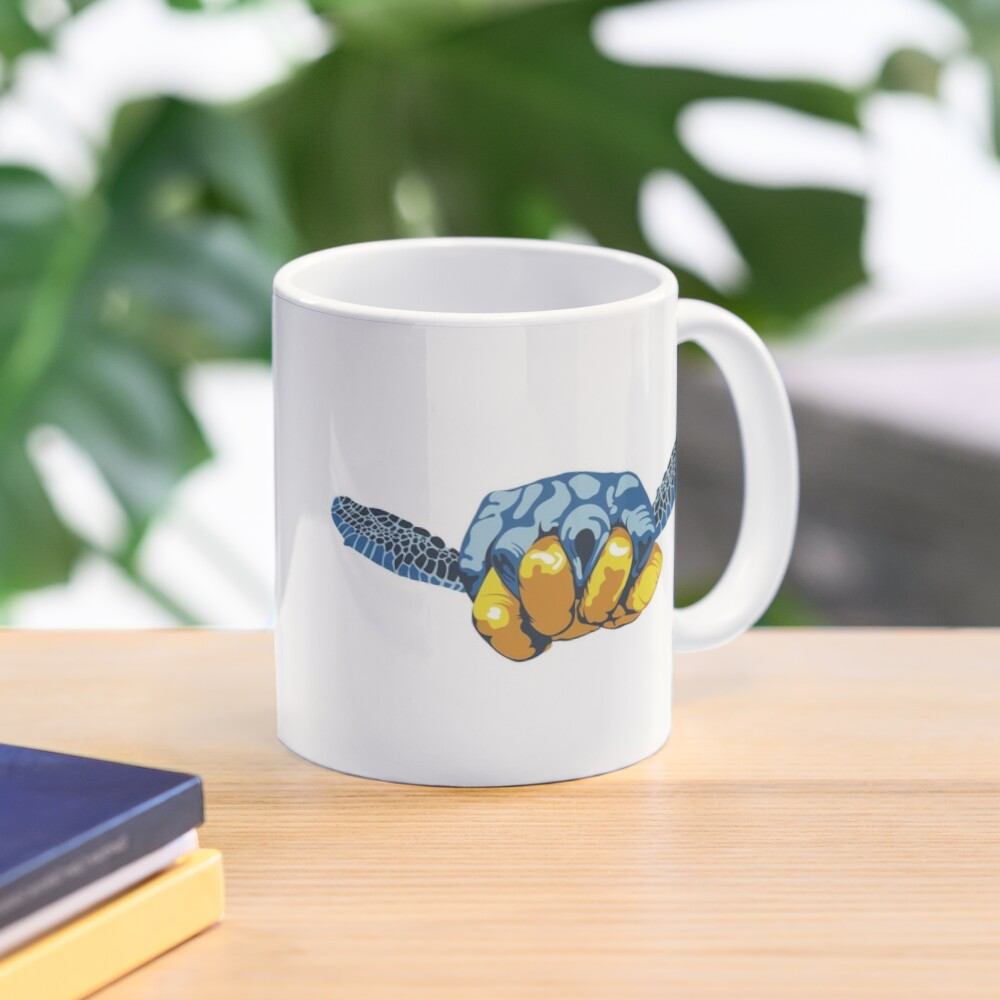 Turtle Hand Signal Mug