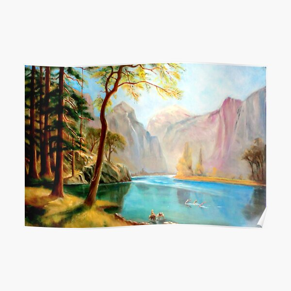 kerns river valley, california after Albert Bierstadt Poster