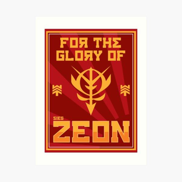 Zeon Propaganda Art Print