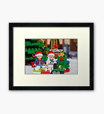 Doc and Marty North Pole Framed Print