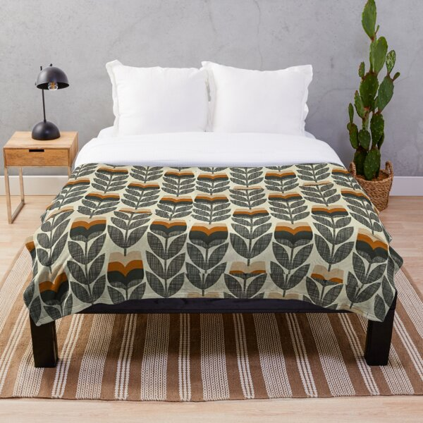 orla kiely design  Throw Blanket