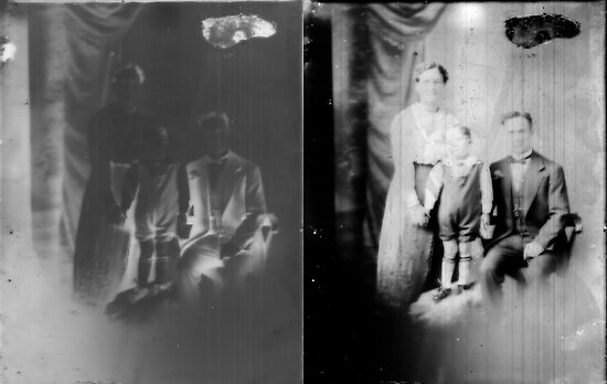 Glass negative family portrait by David Fraser