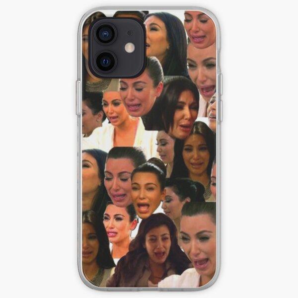 La camiseta del llanto de Kardashian Funda blanda para iPhone