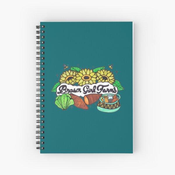 Brown Girl Farms Logo  Spiral Notebook