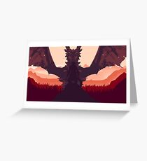 Alduin and the Dragonborn Greeting Card