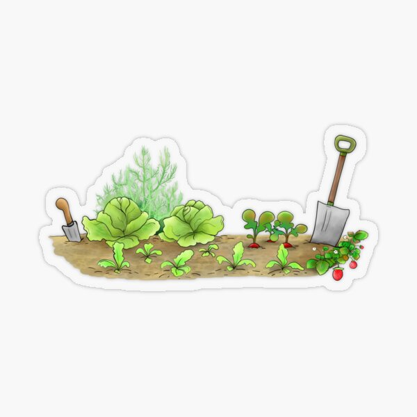Ask Me About My Plants, Rabbit in the Garden Transparent Sticker