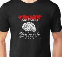 Zombies eat Brains VRS2 Unisex T-Shirt