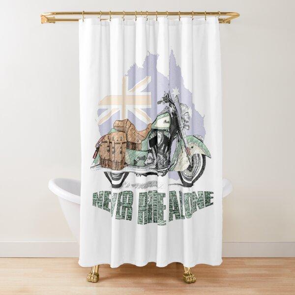 Never ride alone Australia Shower Curtain