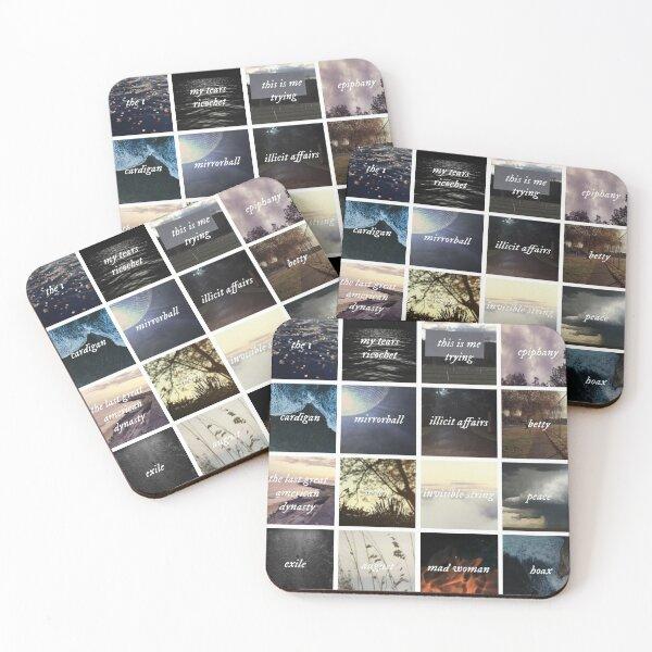 folklore album Coasters (Set of 4)
