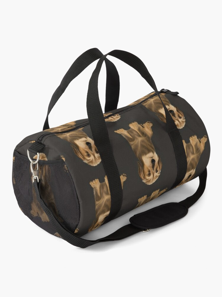 Alternate view of Wirehaired Dachshund sitting dog Duffle Bag