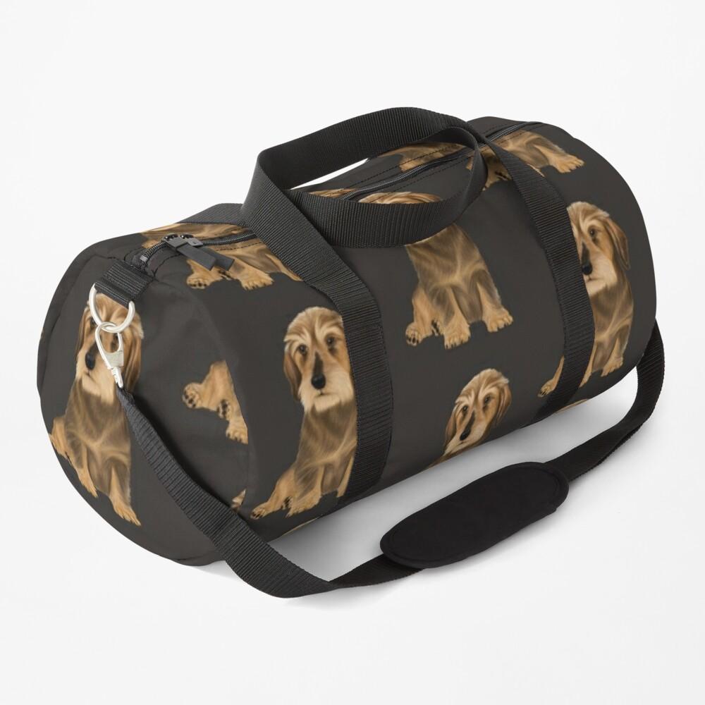 Wirehaired Dachshund sitting dog Duffle Bag