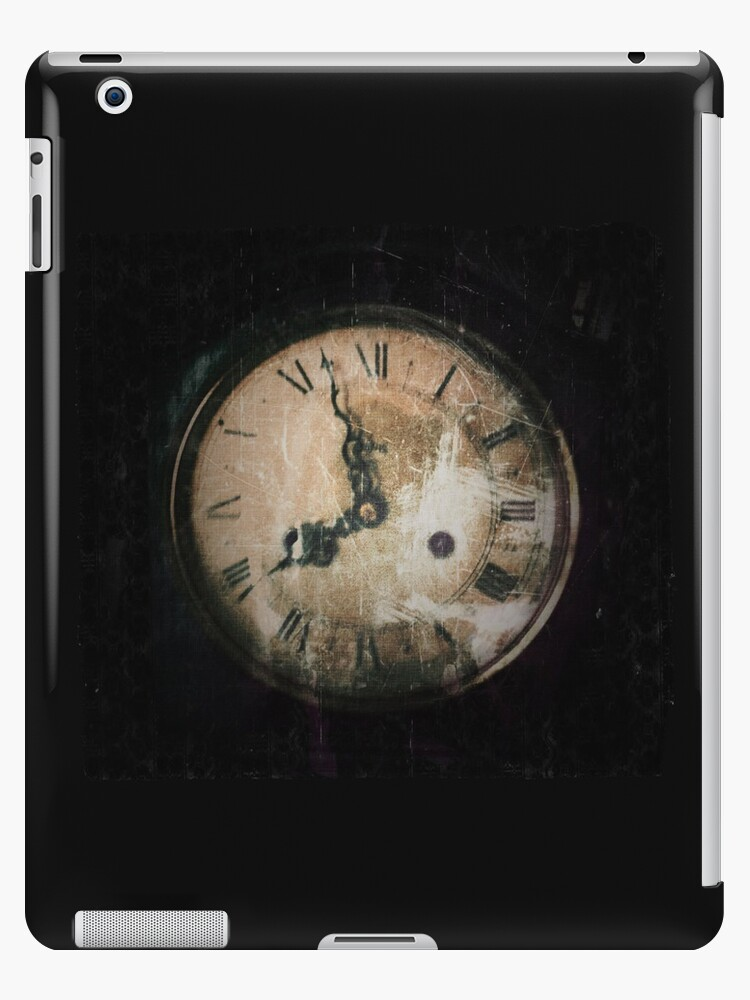 Antique Feel Photograph of an Eerie Clock Face by pastpresent
