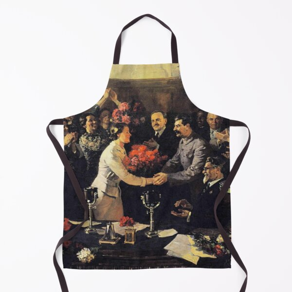 Norillag, A political poster, the Soviet Union, Stalin, the leadership of the Soviet Union, the people, applause Apron