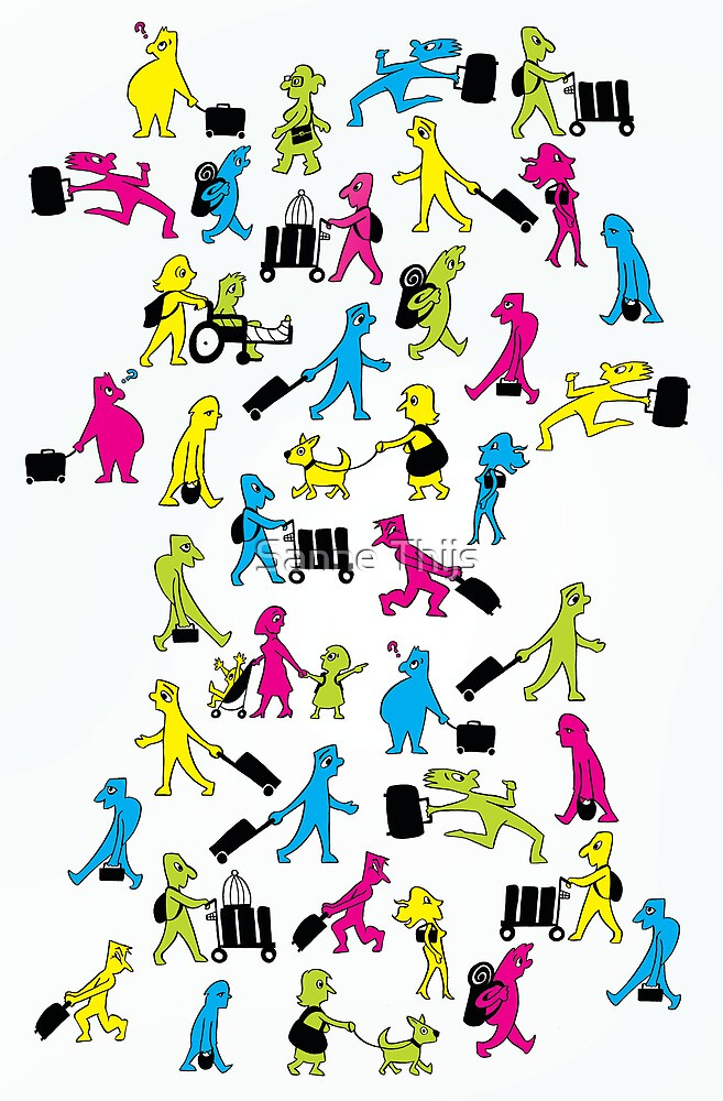 People with Suitcases by Sanne Thijs