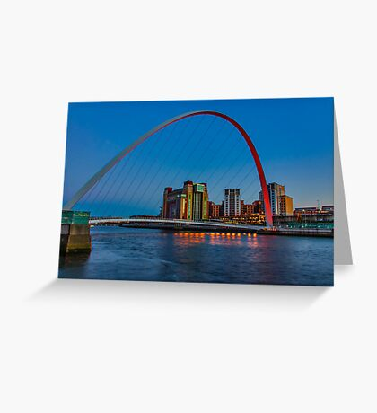 Gateshead Millennium Bridge Colours Greeting Card