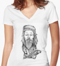 Fish Fingers Women's Fitted V-Neck T-Shirt
