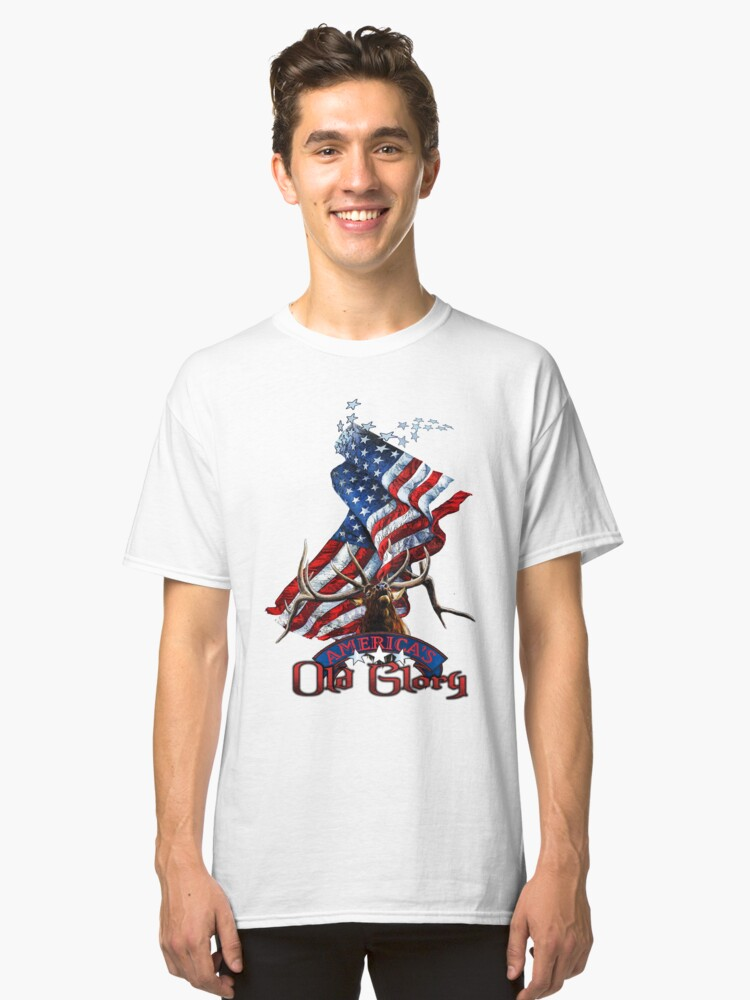 Elk Old Glory Classic T-Shirt Front