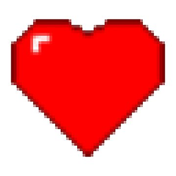 8bit Heart - Old Game Style Heart - Minecraft Heart by dizioboy