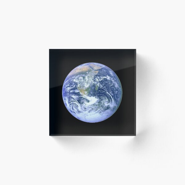 BLUE MARBLE. EARTH FROM SPACE. Acrylic Block
