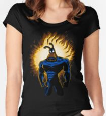The Dark Mite Rises Women's Fitted Scoop T-Shirt