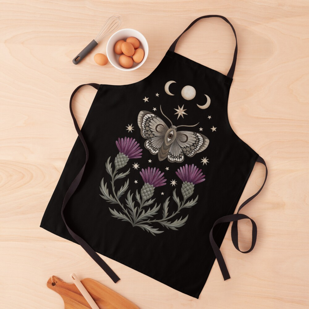 Thistle and moth Apron