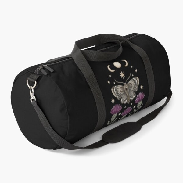 Thistle and moth Duffle Bag