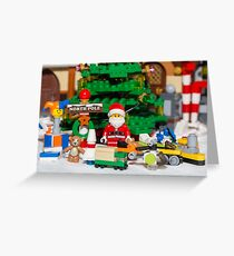 Santa with gifts ready to wrap! Greeting Card