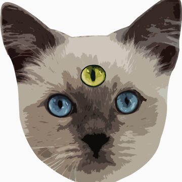 Good Vibes Cat - Ojo amarillo de hunnydoll