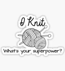 I Knit Sticker