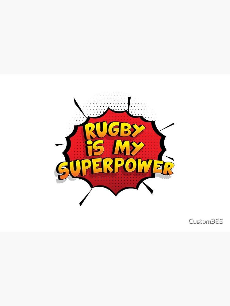 Rugby ist mein Superpower Lustiges Rugby Designgeschenk von Custom365