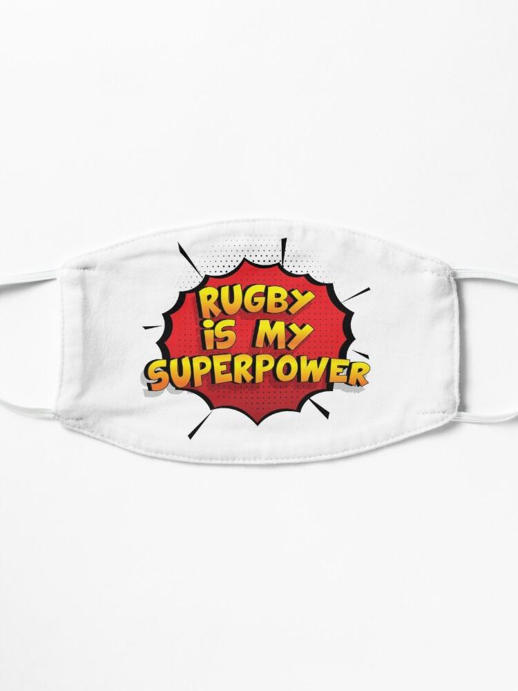 Alternative Ansicht von Rugby ist mein Superpower Lustiges Rugby Designgeschenk Maske