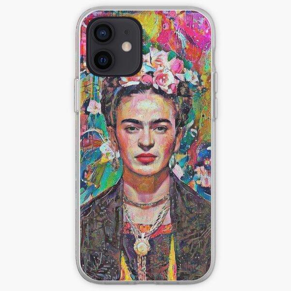 Pintura rosa Frida Funda blanda para iPhone