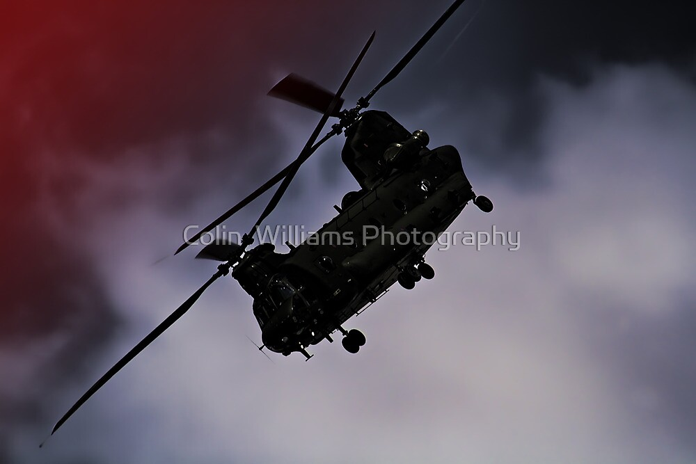 Chinook - Night Flight ! by Colin  Williams Photography